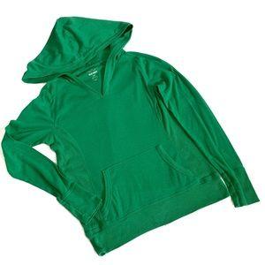 Old Navy Green Hooded Tee Medium